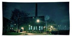 Chicago Urban Industrial Night Scenery Beach Towel