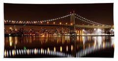 Triboro Bridge Brilliance Beach Towel