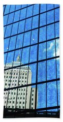 Beach Towel featuring the photograph Urban Refelctions by James Kirkikis