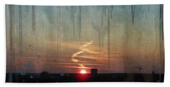 Beach Towel featuring the painting Urban Sunrise by Ivana Westin