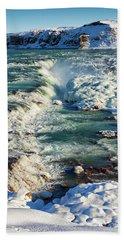 Urridafoss Waterfall Iceland Beach Towel by Matthias Hauser