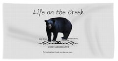 Ursus Americanus - Color Bear Black Text Beach Towel