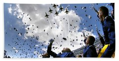 U.s. Air Force Academy Graduates Throw Beach Towel by Stocktrek Images
