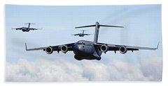 U.s. Air Force C-17 Globemasters Beach Towel
