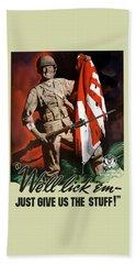 Us Army -- World War Two Propaganda Beach Towel