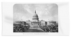 Us Capitol Building - Washington Dc Beach Towel