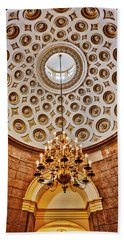 Beach Sheet featuring the photograph Us Capitol Rotunda Washington Dc by Susan Candelario