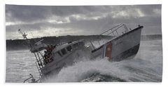 U.s. Coast Guard Motor Life Boat Brakes Beach Towel