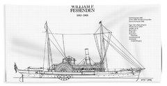 U.s. Coast Guard Revenue Cutter William P. Fessenden Beach Towel