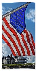 Us Flag,ocean Grove,nj Flag Beach Towel