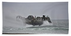Us Navy Hovercraft Beach Towel