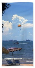 Us Navy Off Pattaya Beach Towel