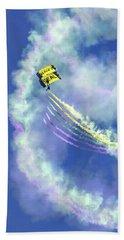 Us Navy Seals Colorful Parachute Jump Beach Sheet