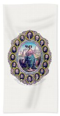 Us Presidents And Lady Liberty  Beach Towel