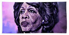 Us Representative Maxine Water Beach Towel