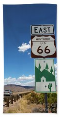 Us Route 66 Sign Arizona Beach Sheet