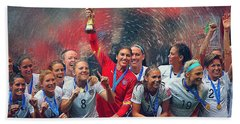 Us Women's Soccer Beach Towel