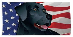 Usa Black Lab Beach Sheet