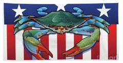 Usa Blue Crab Beach Towel