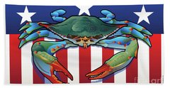 Usa Blue Crab Beach Sheet