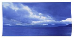 Usa, California, Lake Tahoe, Storm Beach Towel
