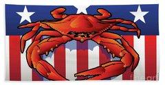 Usa Crab Beach Towel