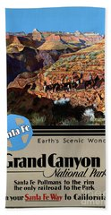 Usa Grand Canyon Restored Vintage Travel Poster Beach Towel