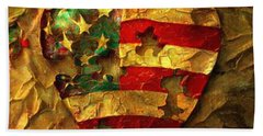Usa Heart Beach Towel
