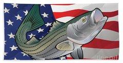 Usa Rockfish Striped Bass Beach Sheet