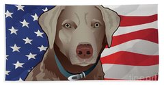 Usa Silver Lab Beach Sheet