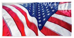 Usa,american Flag,rhe Symbolic Of Liberty,freedom,patriotic,hono Beach Sheet
