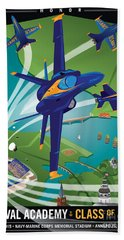 Usna Class Of 2015 12 X 16 Beach Towel