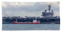 Uss George H.w Bush. Beach Towel
