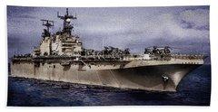 Uss Iwo Jima Lph2 Beach Towel