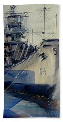 Uss Wisconsin Beach Towel