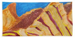 Beach Towel featuring the painting Utah  Canyons by Don Koester