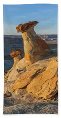 Utah Hoodoos At Sunset Beach Towel