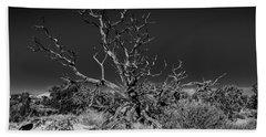 Utah Juniper In Black And White Beach Towel