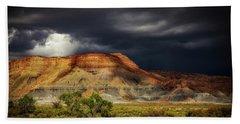 Utah Mountain With Storm Clouds Beach Sheet