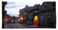 Uzupis Street. Old Vilnius. Lithuania. Beach Towel