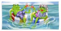 Vacation Happy Frog Couple Beach Sheet