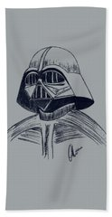 Beach Sheet featuring the drawing Vader Sketch by Chris Thomas