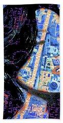 Beach Towel featuring the mixed media Vain by Tony Rubino