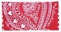 Valentine Heart Beach Sheet