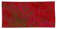 Valentine Red Beach Towel