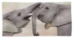 Valentine's Day Elephant Beach Towel by Annie Poitras