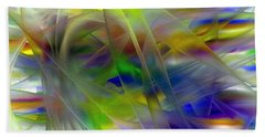 Beach Towel featuring the digital art Veils Of Color 2 by Greg Moores