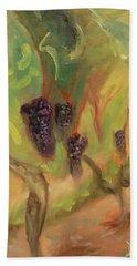 Beach Sheet featuring the painting Valhalla Vineyard by Donna Tuten