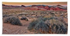 Valley Of Fire Sunset Beach Towel