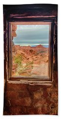Valley Of Fire Window View Beach Towel